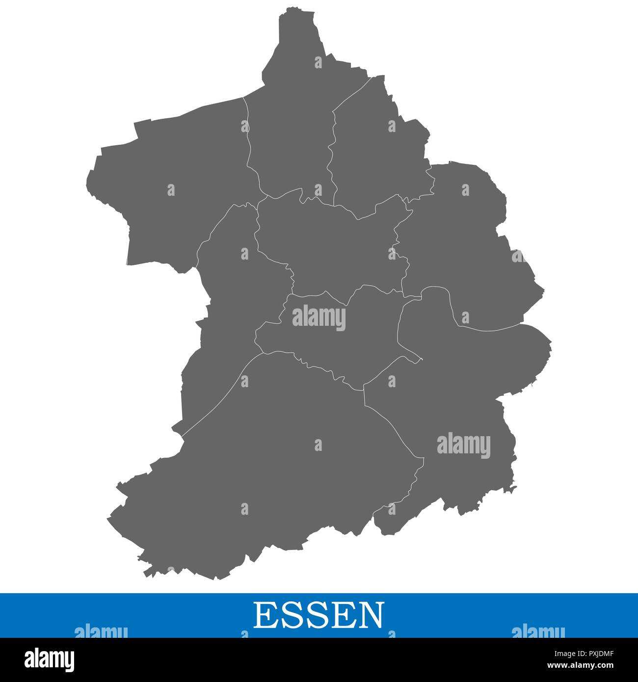 Map Of Germany Essen.High Quality Map Of Essen Is A City Of Germany With Borders Of