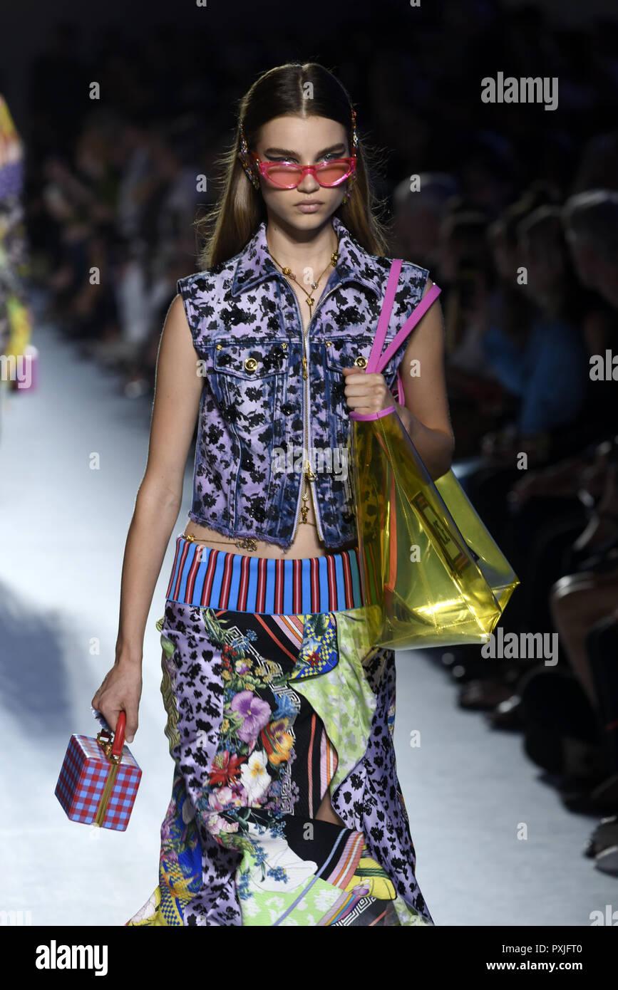 47e56c9355 Milan Fashion Week Spring Summer 2019 - Versace - Catwalk Featuring  Model  Where  Milan