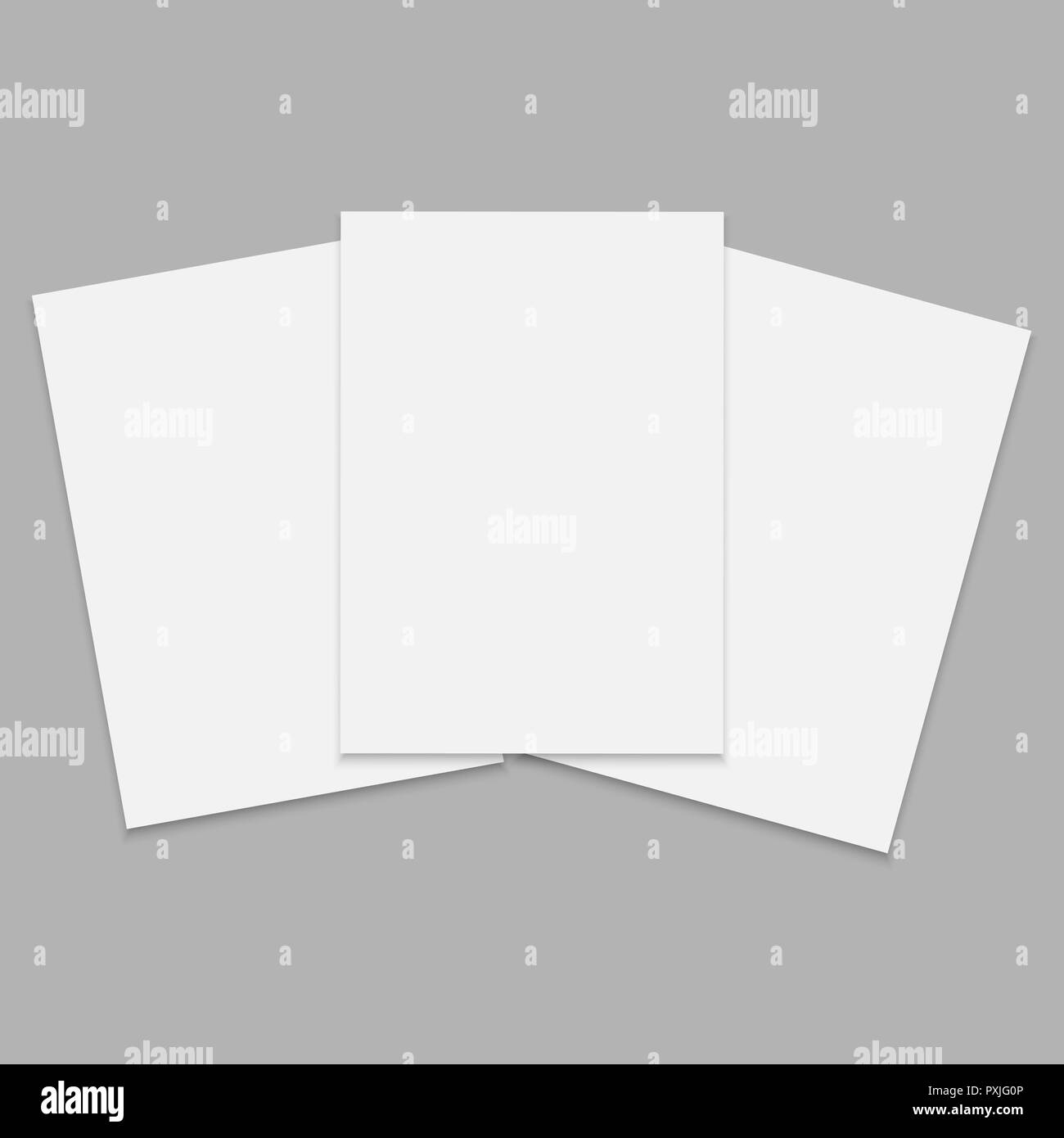 journal or magazine mockup with sheet of a4 blank front template