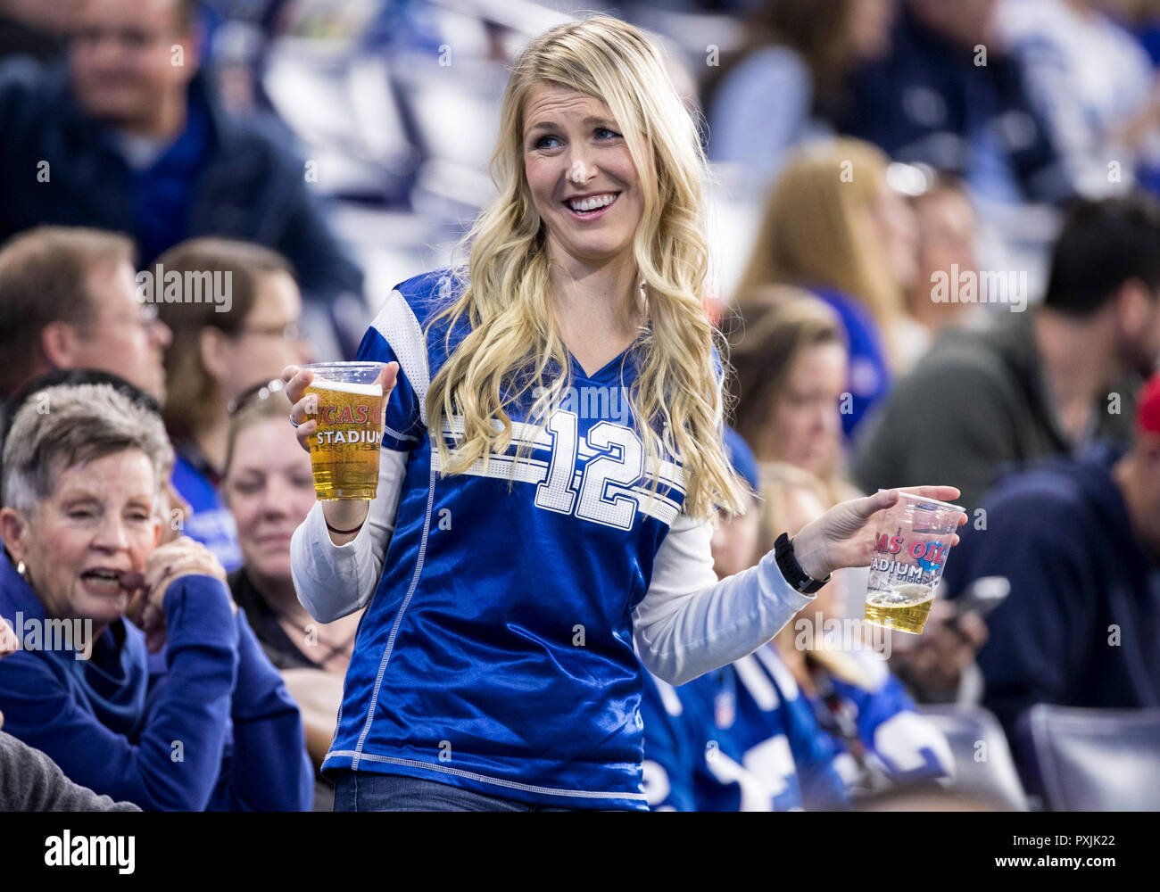 Indianapolis, Indiana, USA. 21st Oct, 2018. Indianapolis Colts fan