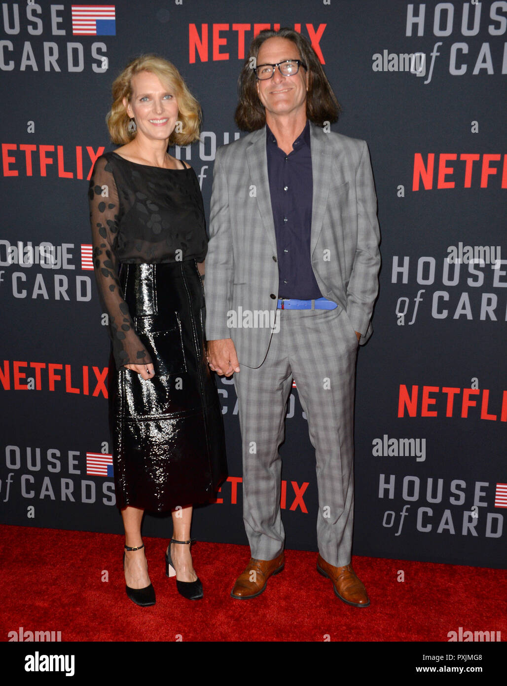 Los Angeles, California, USA. 22nd October, 2018. Melissa James Gibson & Daniel Aukin at the season 6 premiere for 'House of Cards' at the Directors Guild Theatre. Picture: Paul Smith/Featureflash Credit: Paul Smith/Alamy Live News - Stock Image