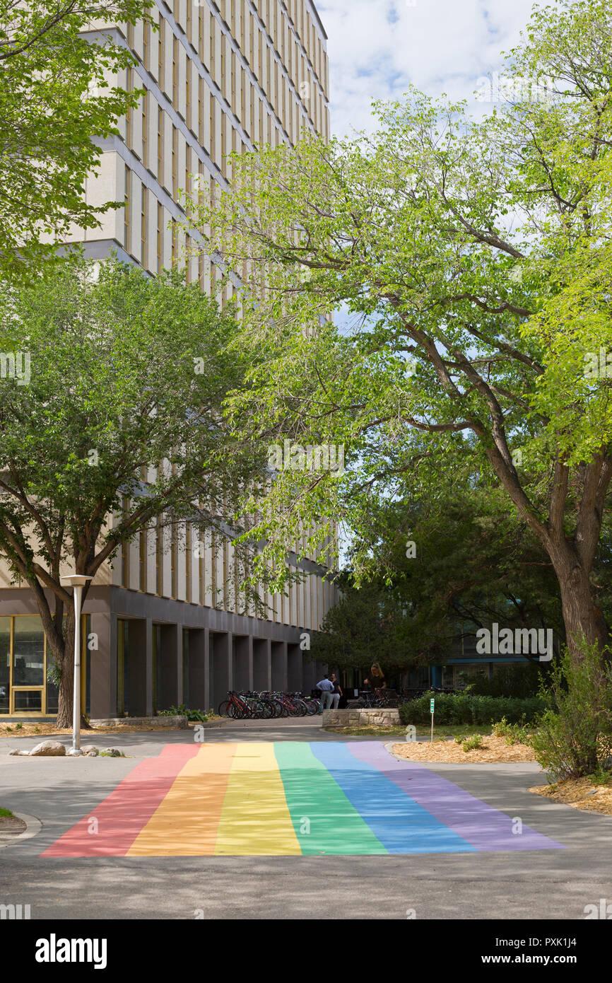 Entrance to the Arts building on the University of Saskatchewan campus - Stock Image