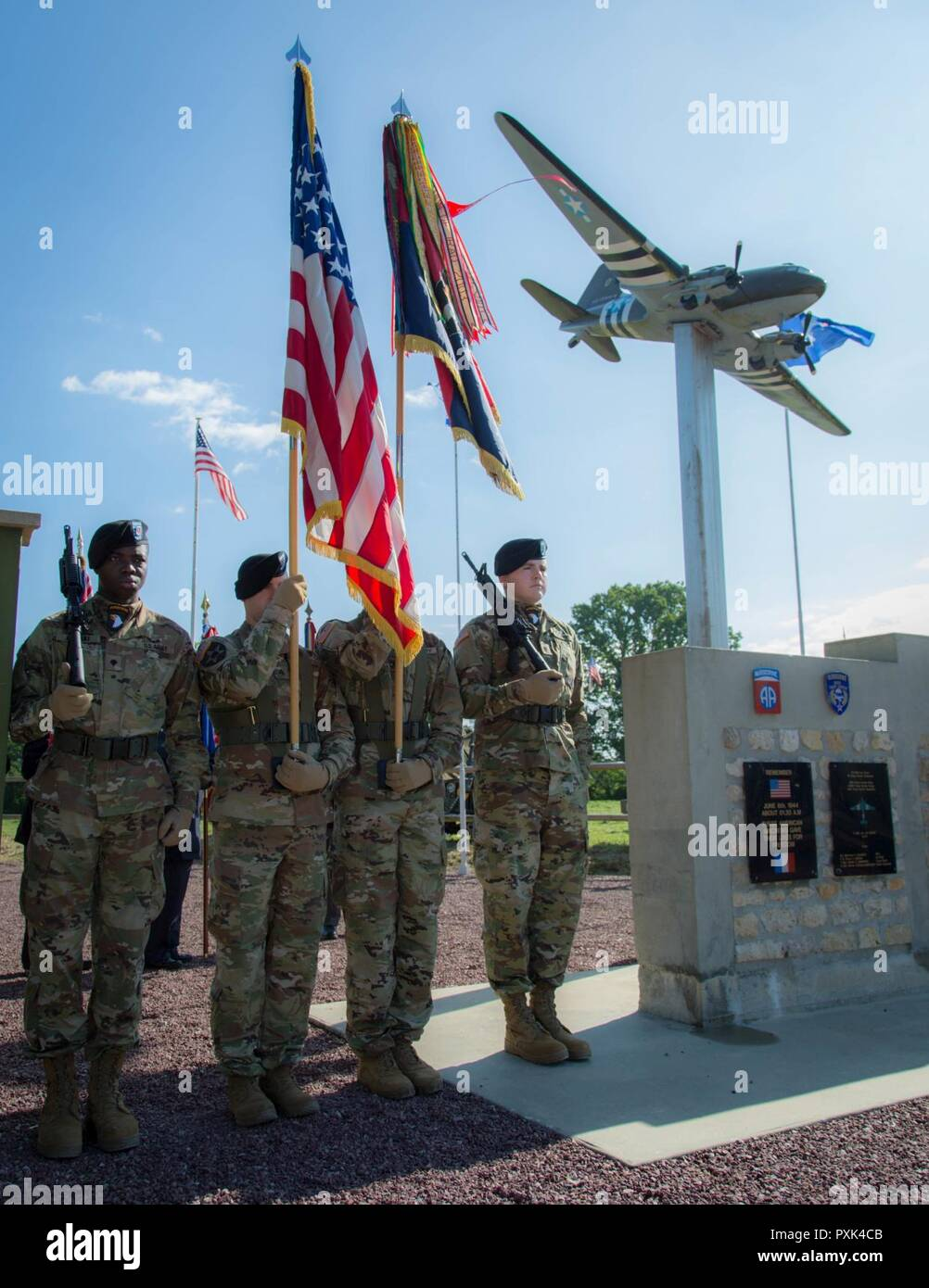 Soldiers of the 82nd Airborne Division serve as Color Guard