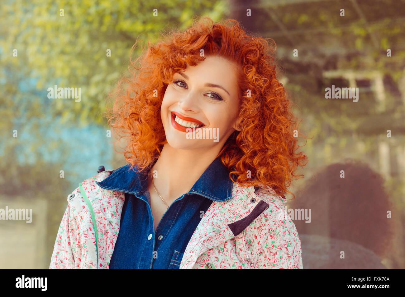 JILL: Curly amateur redhead