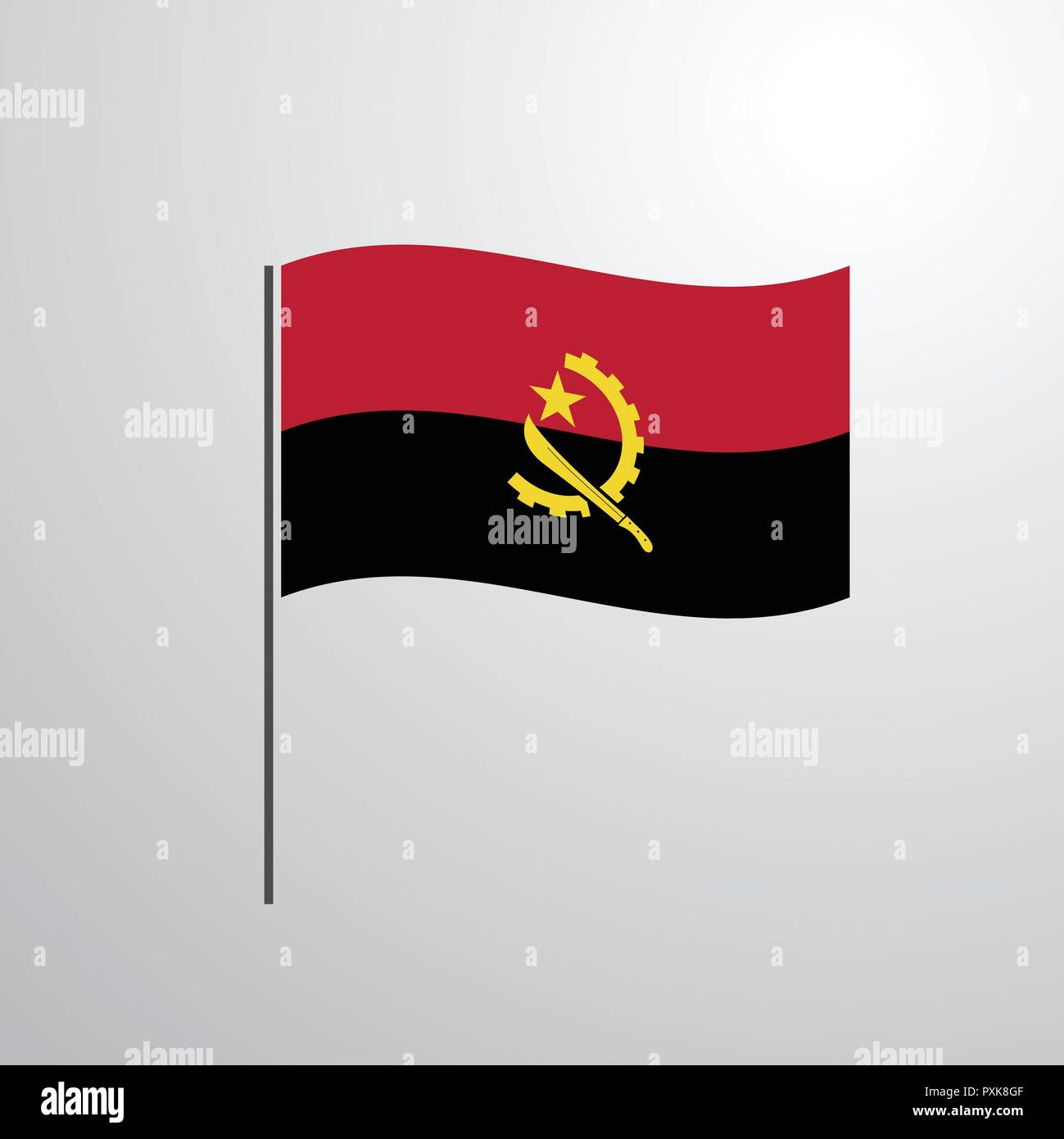 Angola waving Flag - Stock Vector