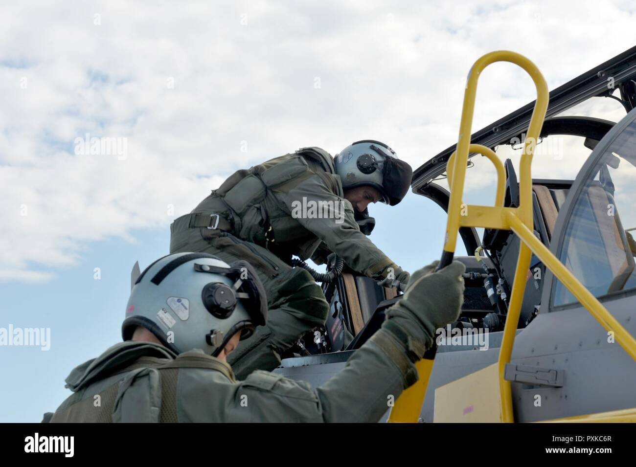 Lt  Col  Michael Holy, an F-16 Fighting Falcon pilot