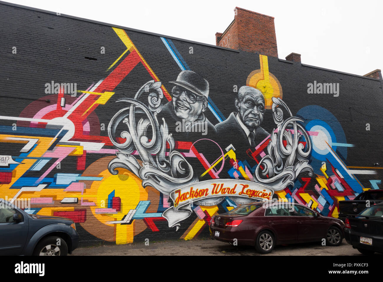 Jackson ward mural Richmond Virginia - Stock Image