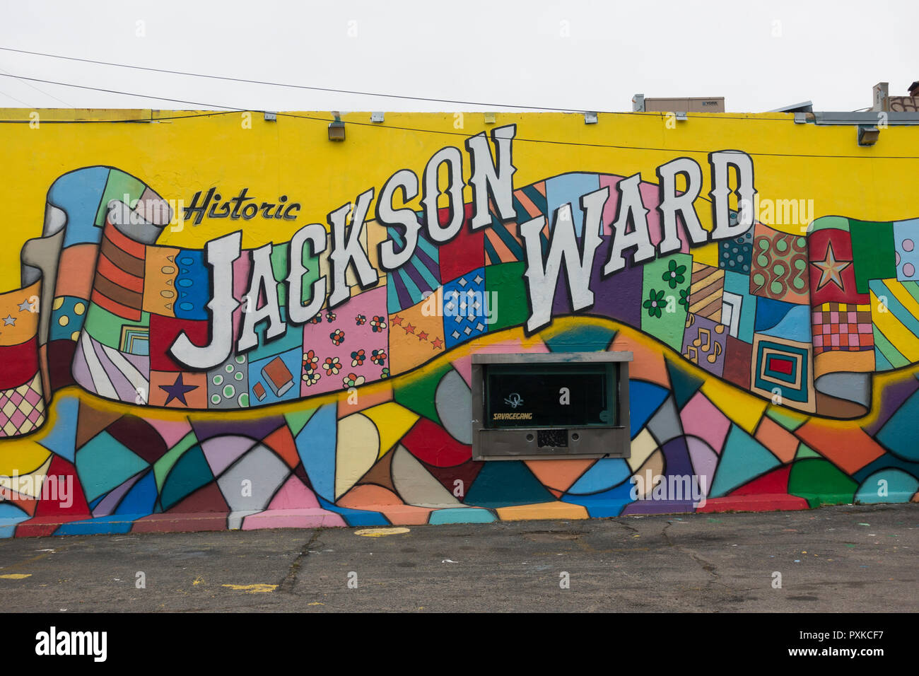 Jackson Ward murals Richmond Virginia - Stock Image