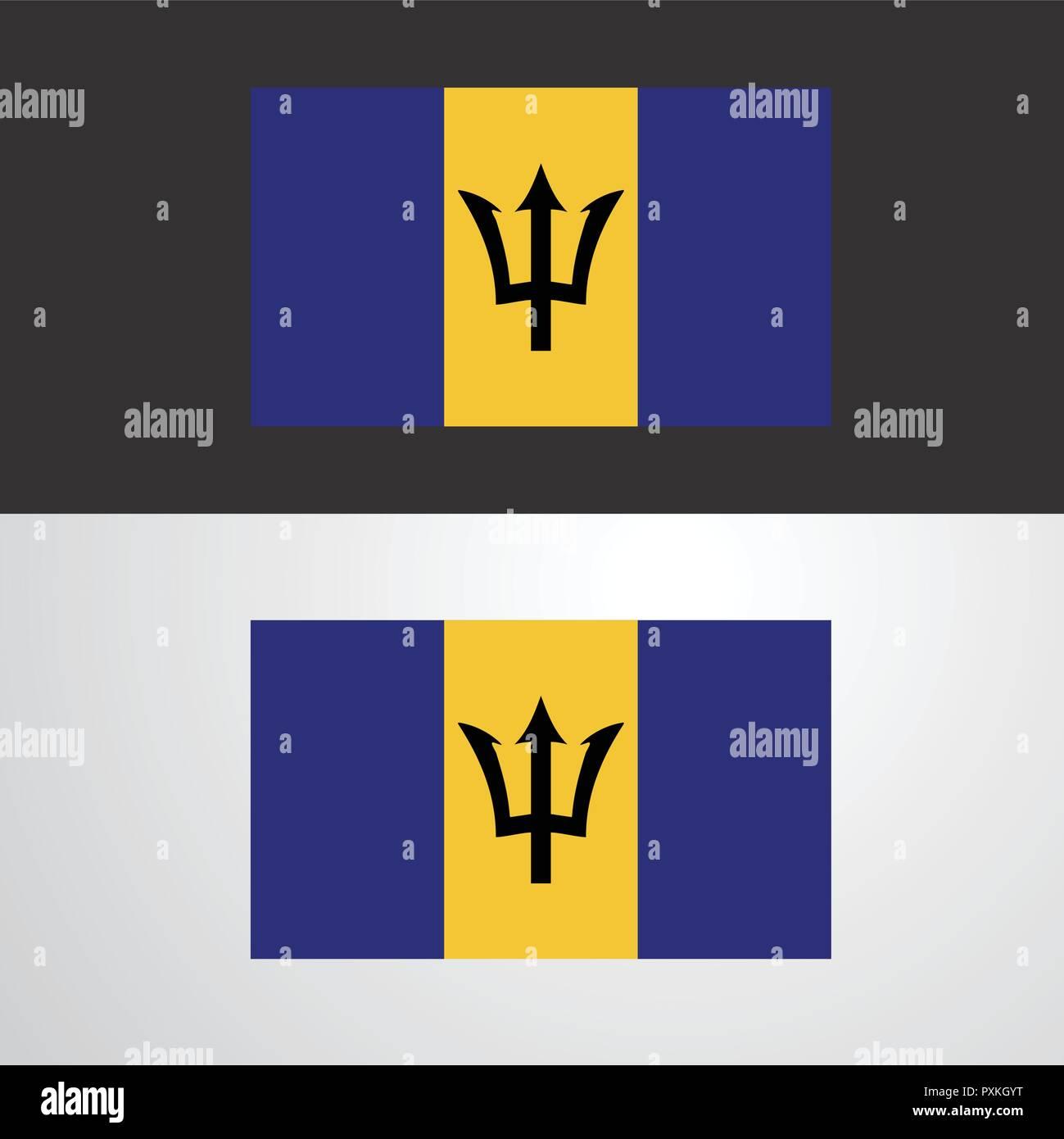 Barbados Flag banner design - Stock Vector