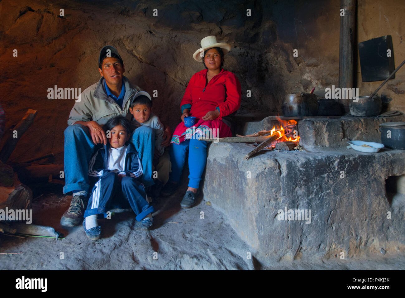 The PACC project in the departments of Cusco and Apurimac and that of JDDP with the Albero della vita, They worked on improving the living conditions  - Stock Image