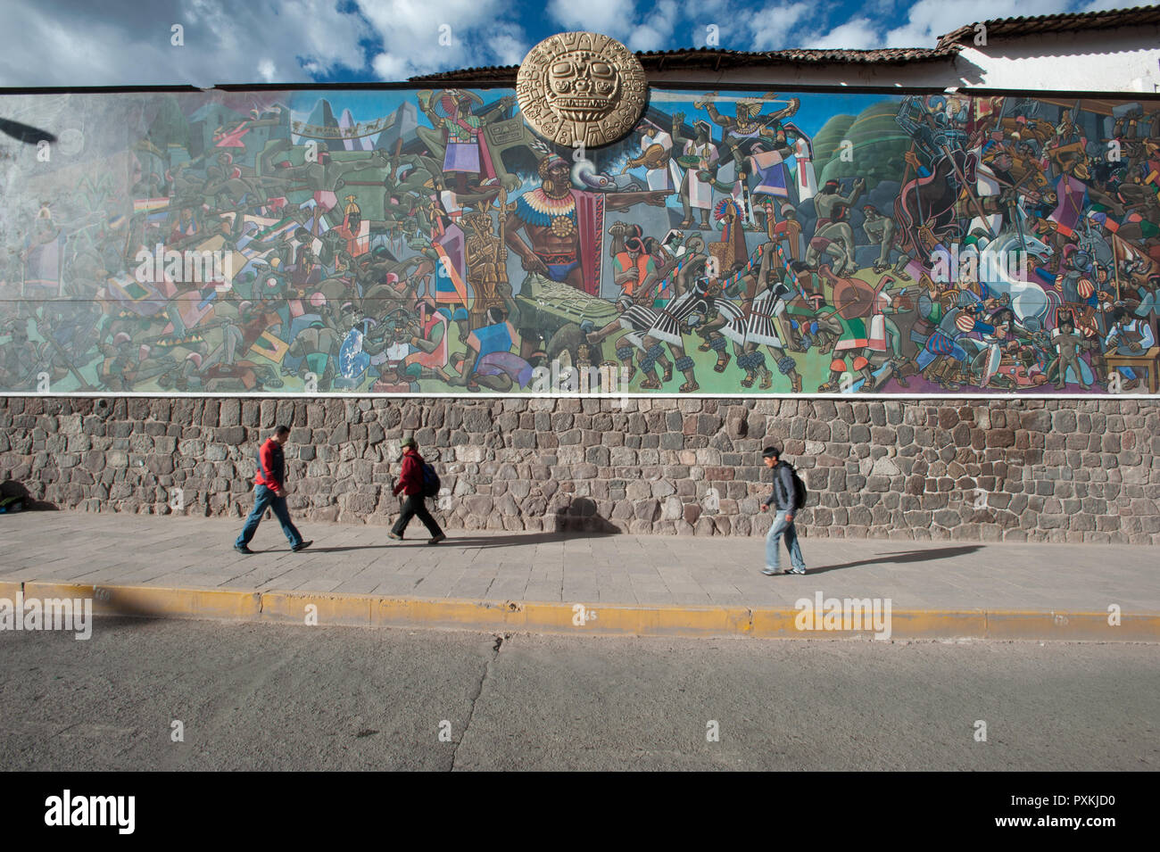 Cultural Identity Inca Celebrated In A Large Mural On The Avenida
