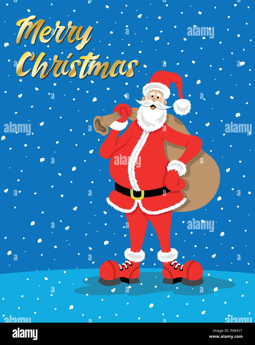 Christmas Festival Cartoon Images.Santa Claus Cartoon With Christmas Celebration Message While