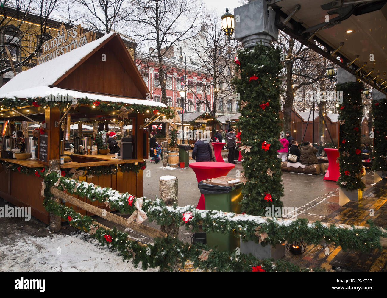 Christmas market in Studenterlunden in the centre of Oslo