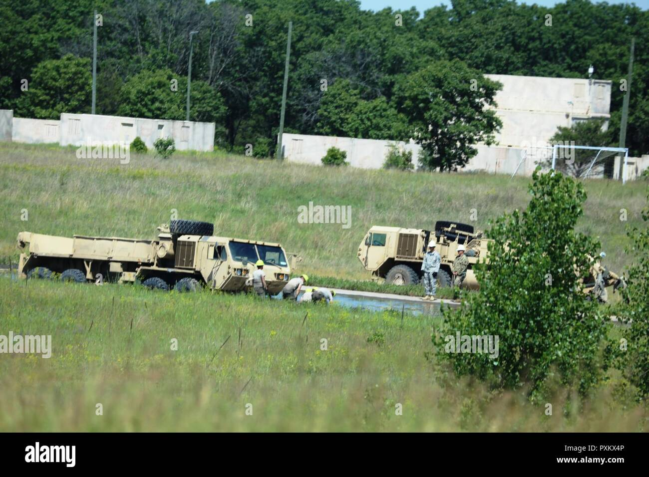 Soldiers at Fort McCoy, Wis , for training in the Regional