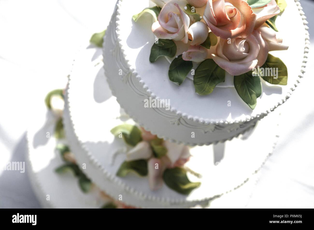 Hochzeitstorte Hochzeit Torte Mehrstoeckig Stock Photos
