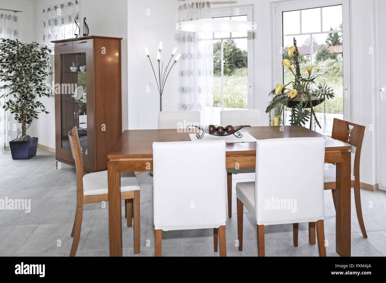 Esszimmer Wohnen Innenaufnahme Inneneinrichtung Wohnung Wohnraum Einrichtung  Moebel Mobiliar Modern Interieur Wohn Design Ambiente Innen Architektur I