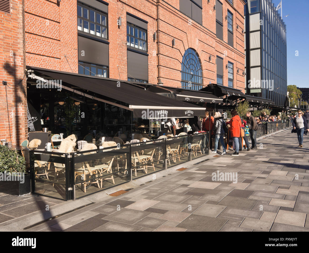 The Aker Brygge Area In The Centre Of Oslo Norway Has Many