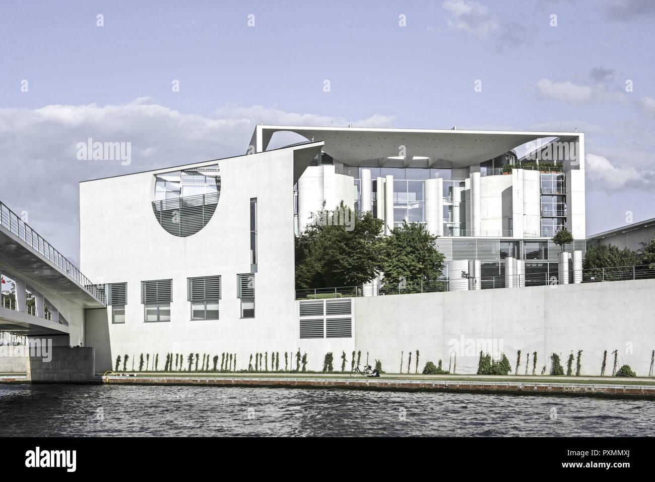 Deutschland, Berlin, Europa, Hauptstadt, Stadt, Sehenswuerdigkeit, Berlin-Tiergarten, neues Bundeskanzleramt, Politik, Regierungsviertel, Kanzleramt,  Stock Photo