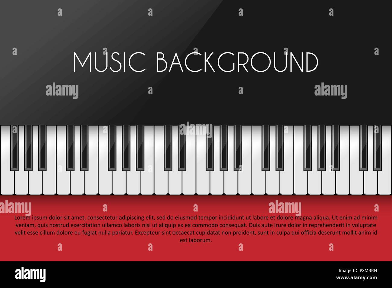 Music Background With Piano Keyboard Poster Design Template