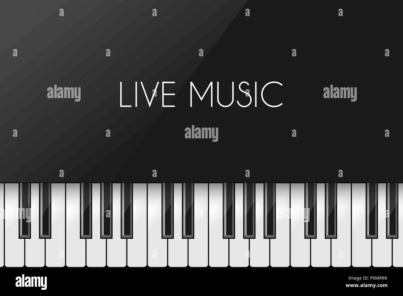 music background with piano keyboard poster design template stock