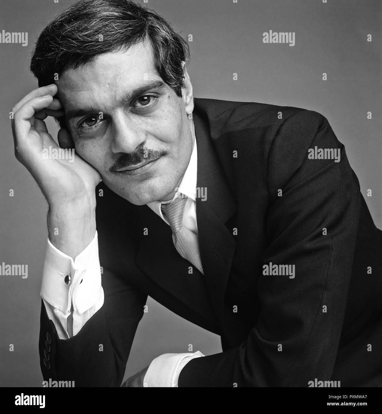 OMAR SHARIF (1932-2015) Lebanese film actor about 1970 - Stock Image