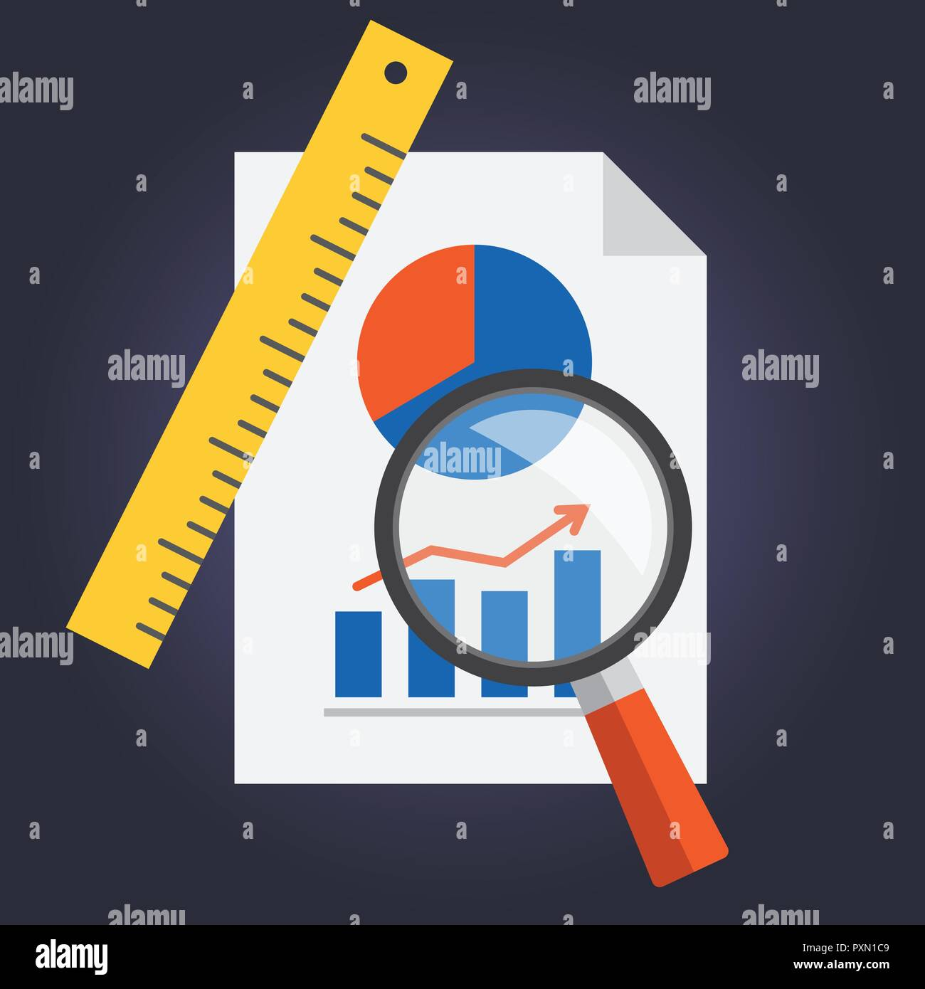 Conceptual project illustration in vector, flat design - Stock Vector