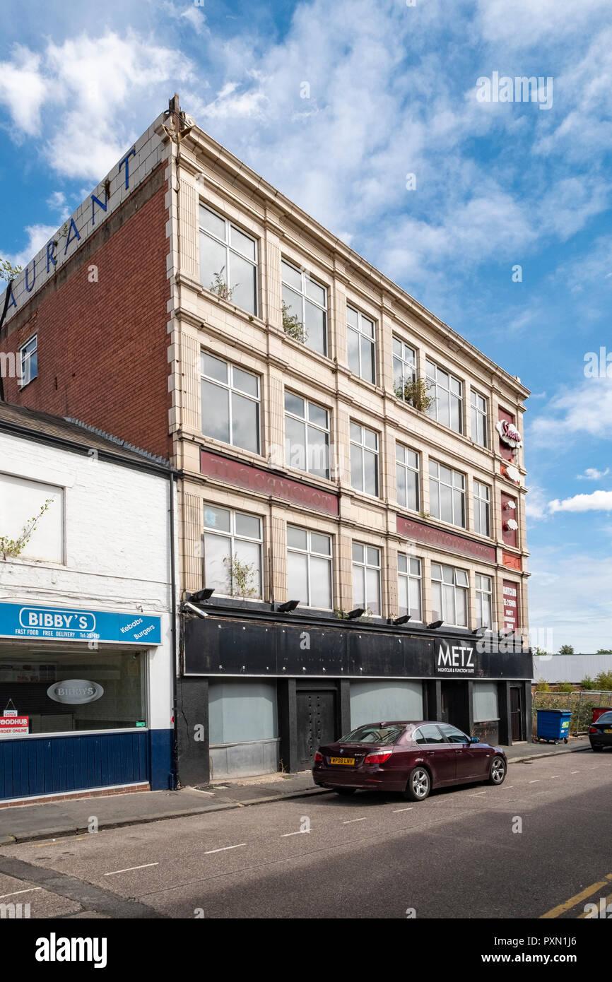 Metz Night club in Crewe Cheshire UK - Stock Image