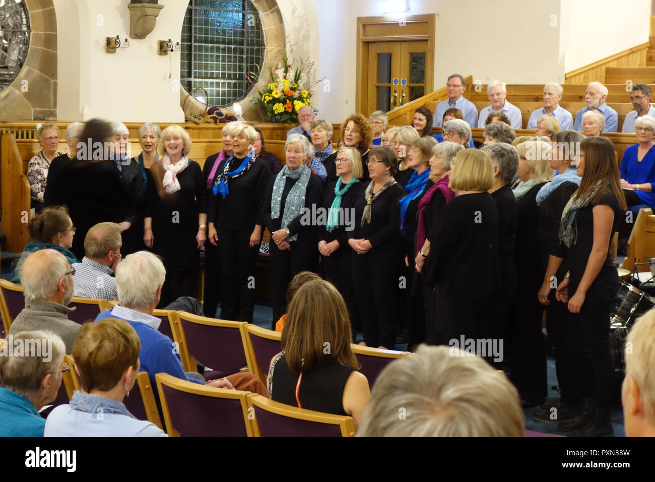 Concert by North Berwick Sings - Stock Image
