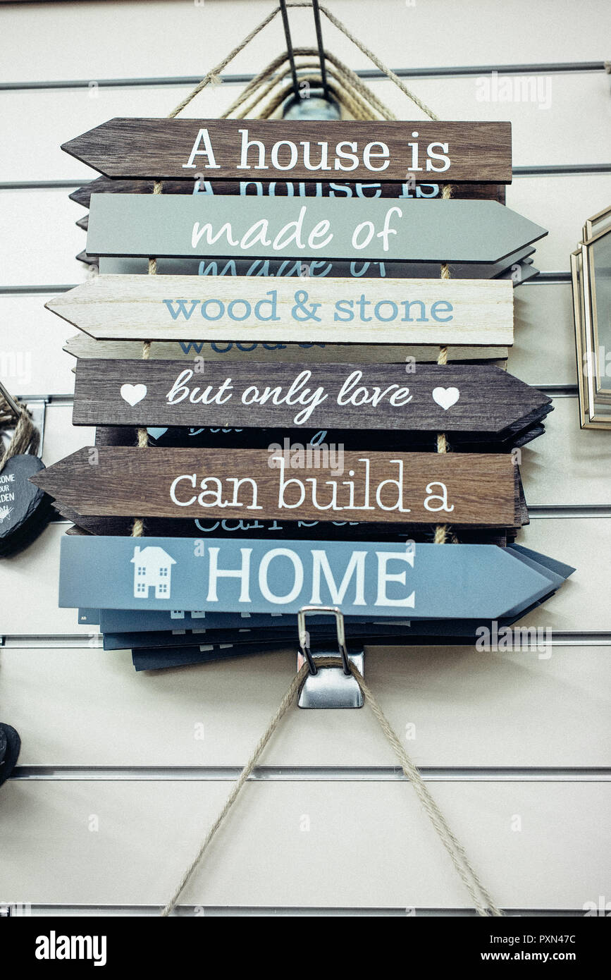 composition of wooden painted breds motivational and