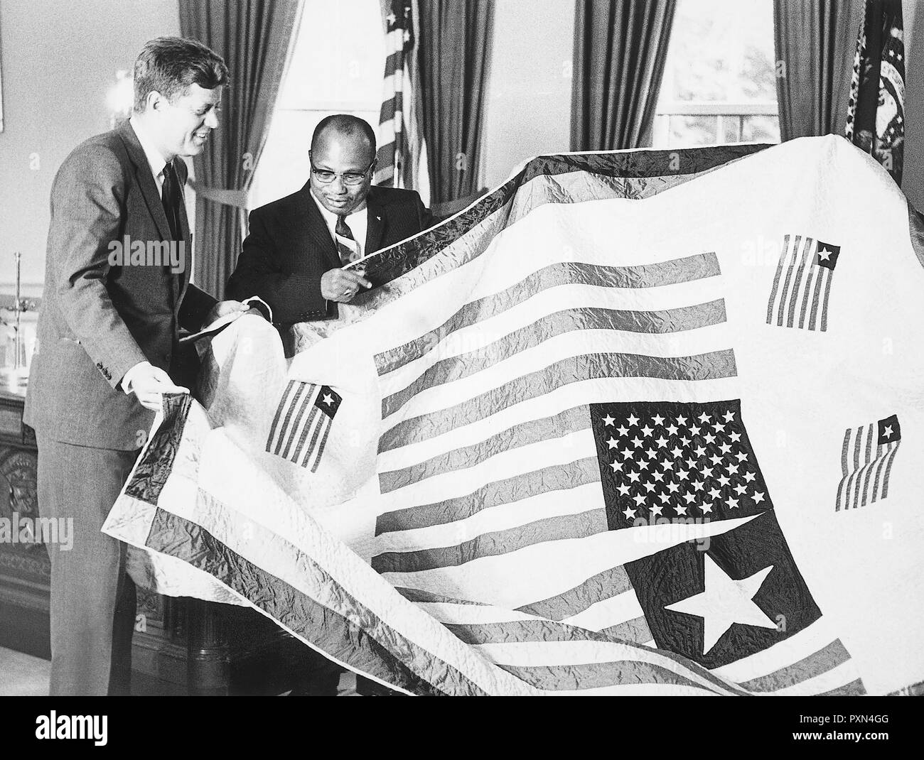 john fitzgerald kennedy, william tolbert - Stock Image