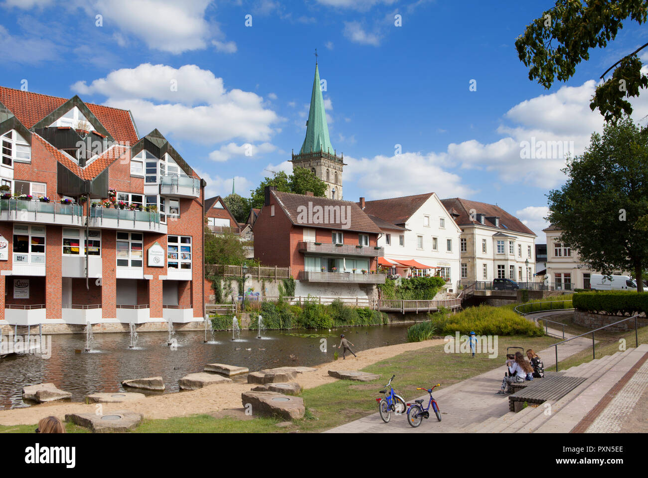 Cityscape of Lüdinghausen, Münsterland, North Rhine-Westphalia, Germany, Europe - Stock Image