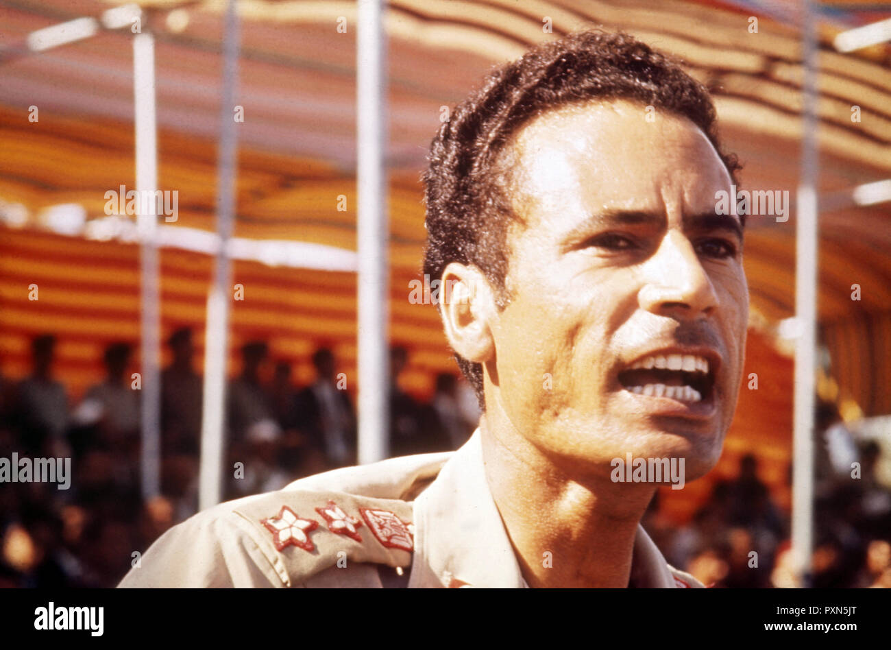 muammar gaddafi, 70s - Stock Image