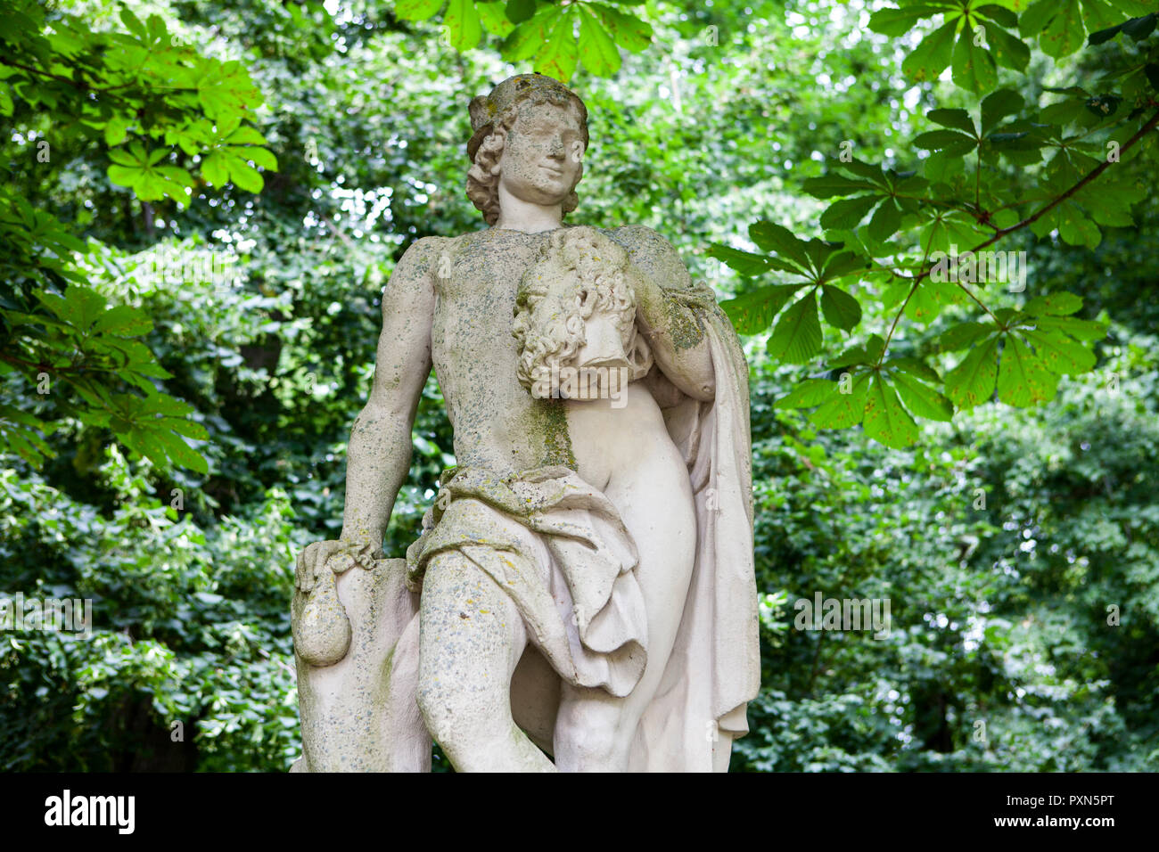 Sculpture of Mercury at Nordkirchen Moated Palace, Germany - Stock Image