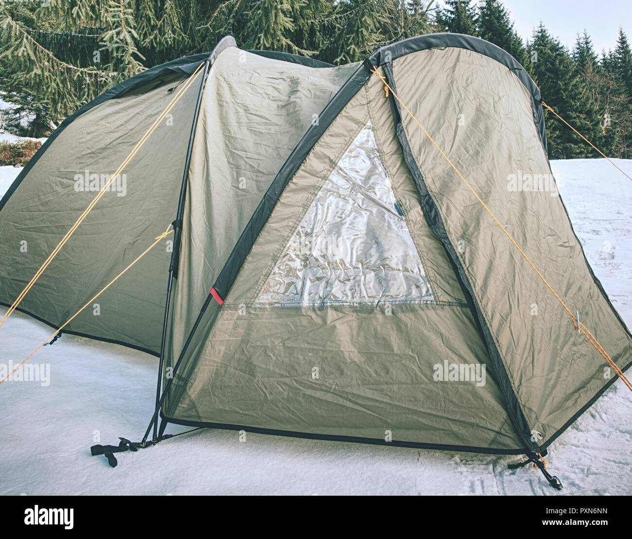 On Vacation For Few Days >> Camping On Snow Tent Built In The Fresh Snow Spent Few Days On