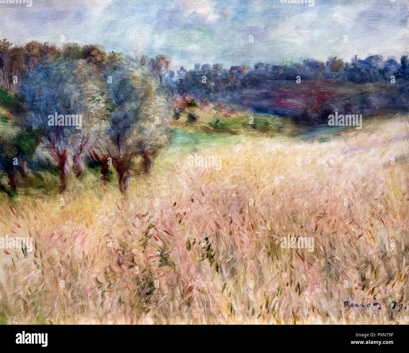 Wheatfield by Pierre Auguste Renoir (1841-1919), oil on canvas, 1879 - Stock Image