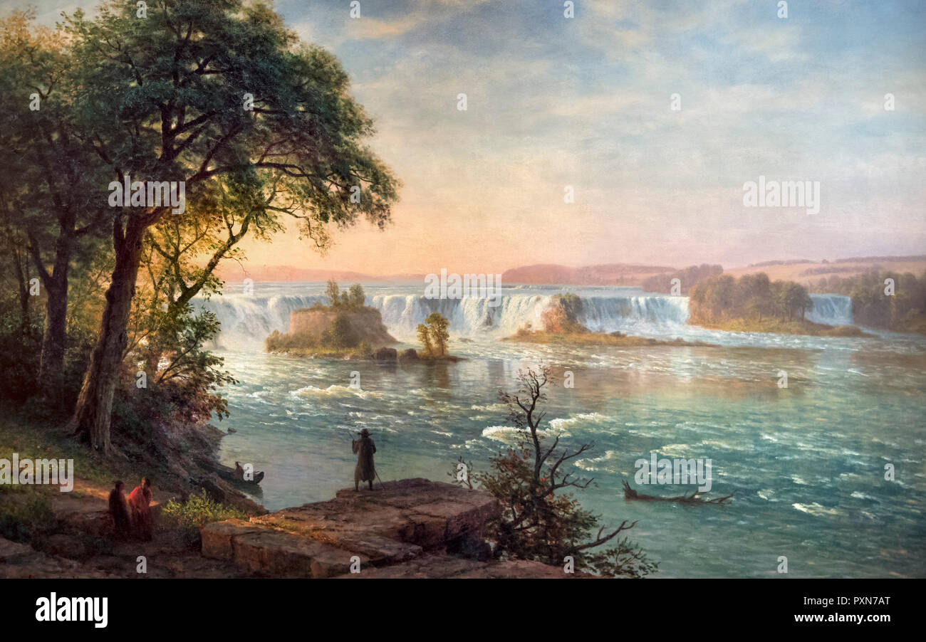 The Falls of St. Anthony by Albert Bierstadt (1830-1902), oil on canvas, 1880-87 - Stock Image