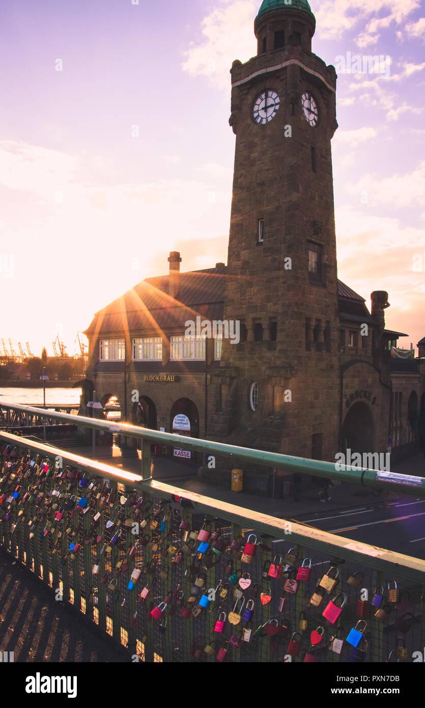 Hamburg Landungsbrücken - Stock Image