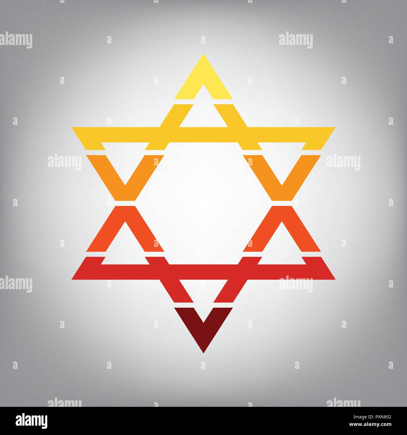 Icon Star David Symbol Judaism Stock Photos & Icon Star