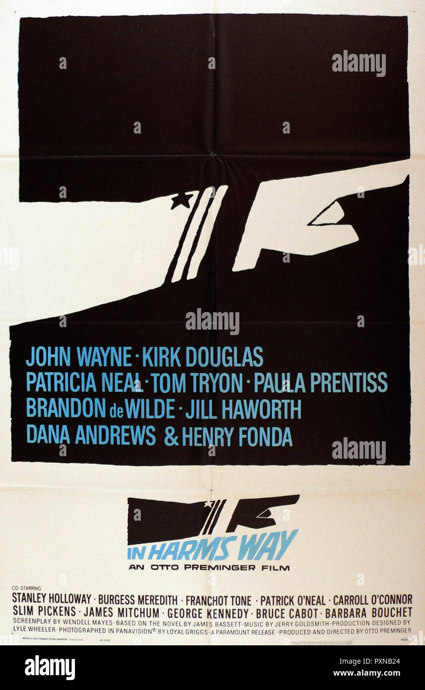 In Harms Way - Original movie poster - Stock Image