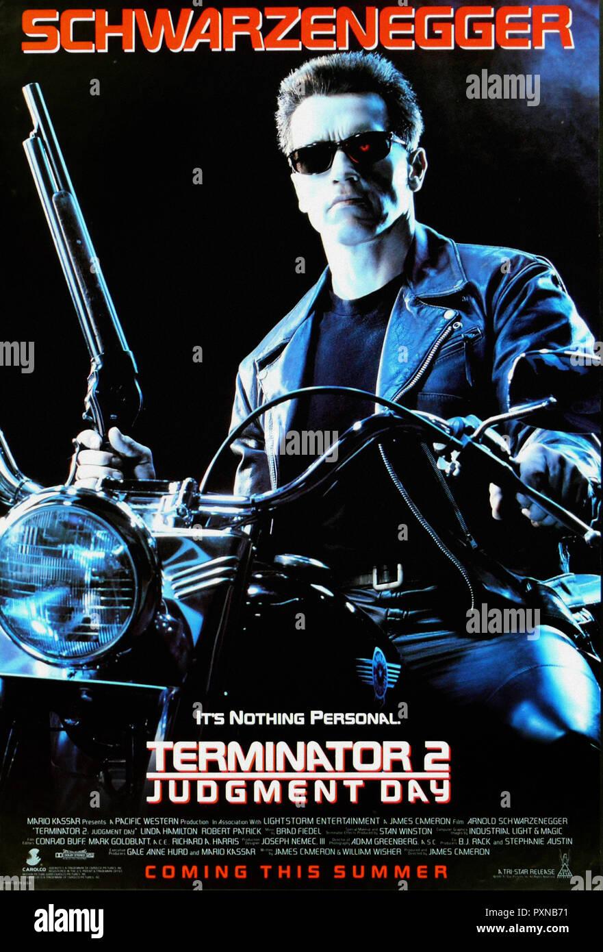 Terminator 2 Judgement Day - Original movie poster - Stock Image