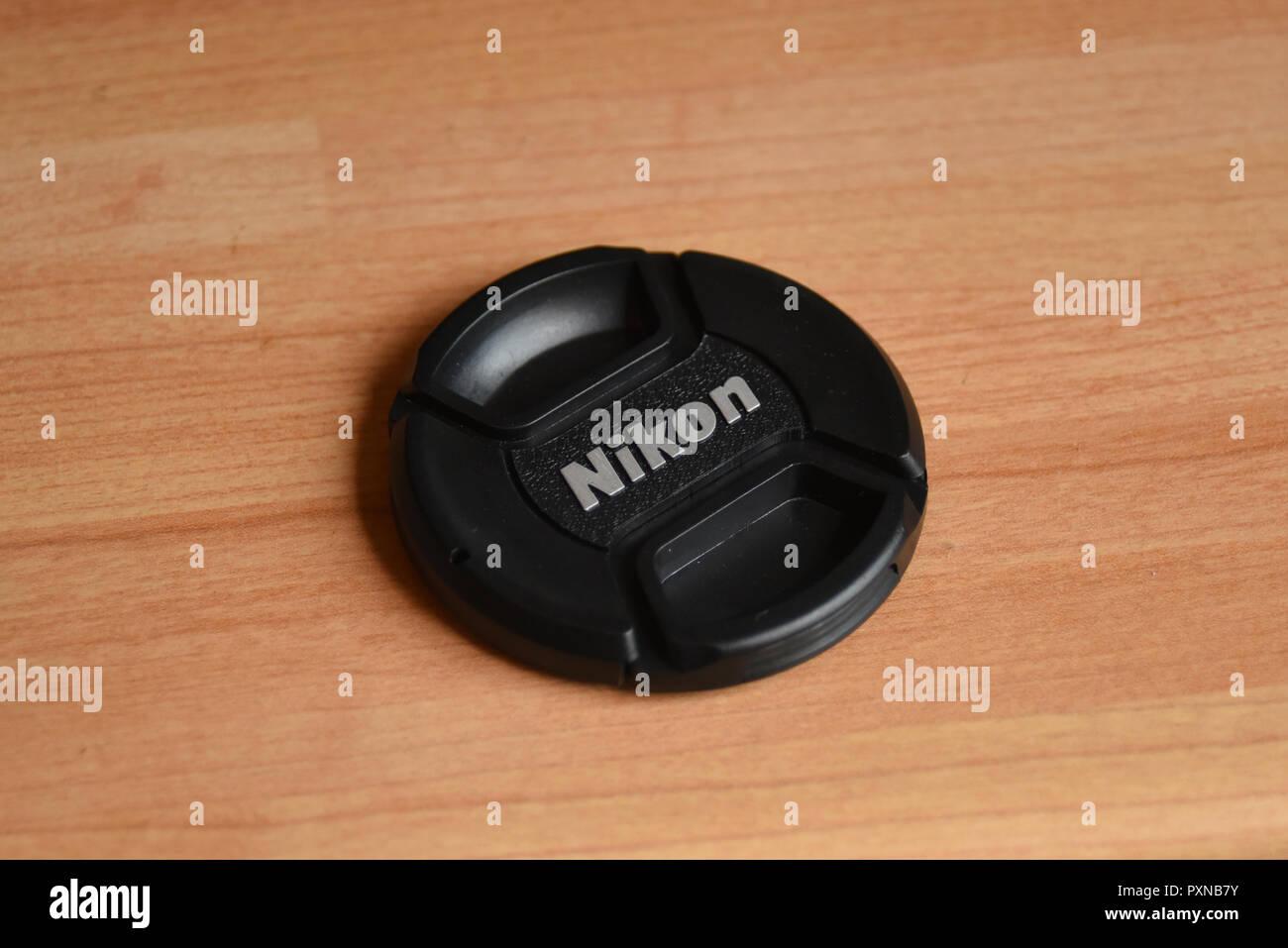 Nikon Lens Cap - Stock Image
