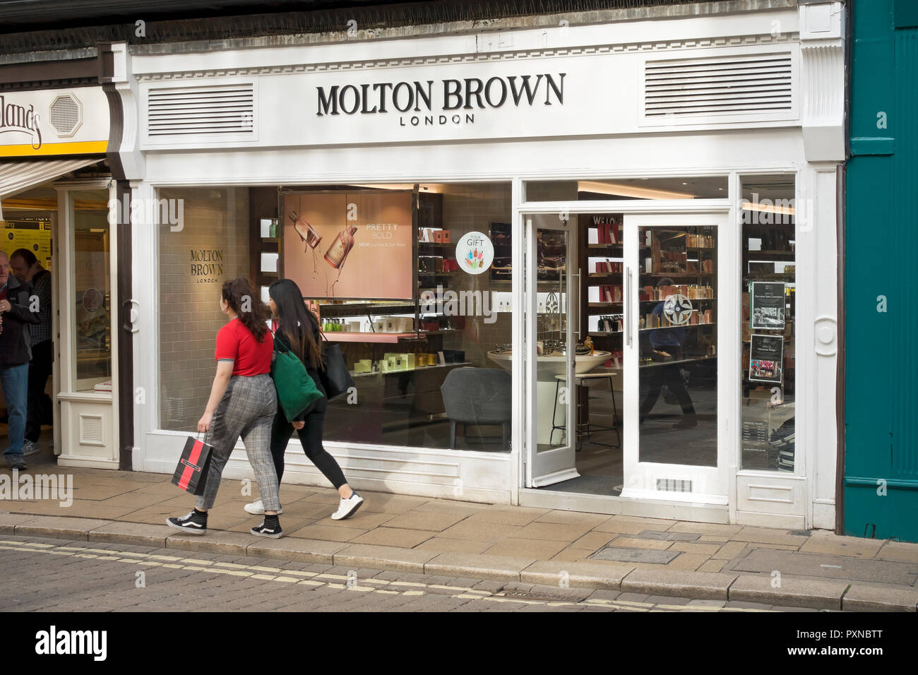 Molton Brown shop store Davygate York North Yorkshire England UK United Kingdom GB Great Britain - Stock Image