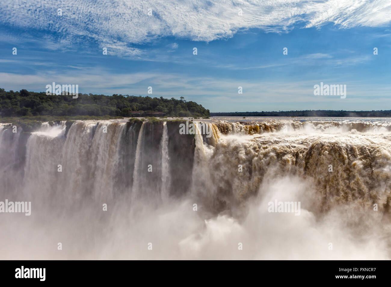 Iguazu Falls, Puerto Iguazu, Misiones, Argentina - Stock Image