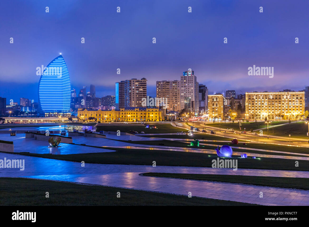 Azerbaijan, Baku, Trump Hotel and Tower - Stock Image
