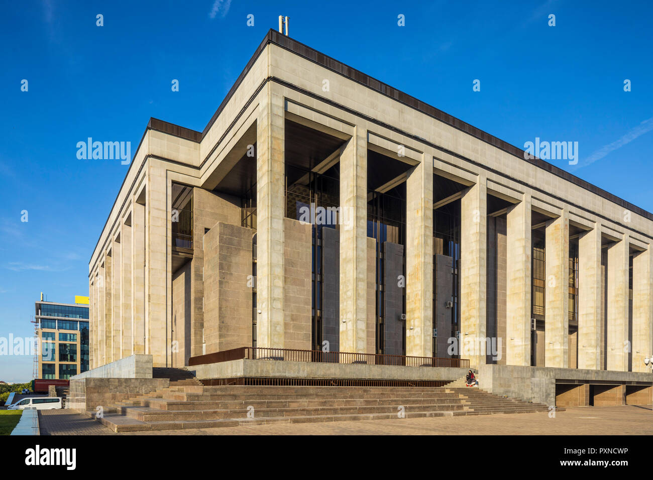 Palace of Republic, Minsk, Belarus Stock Photo