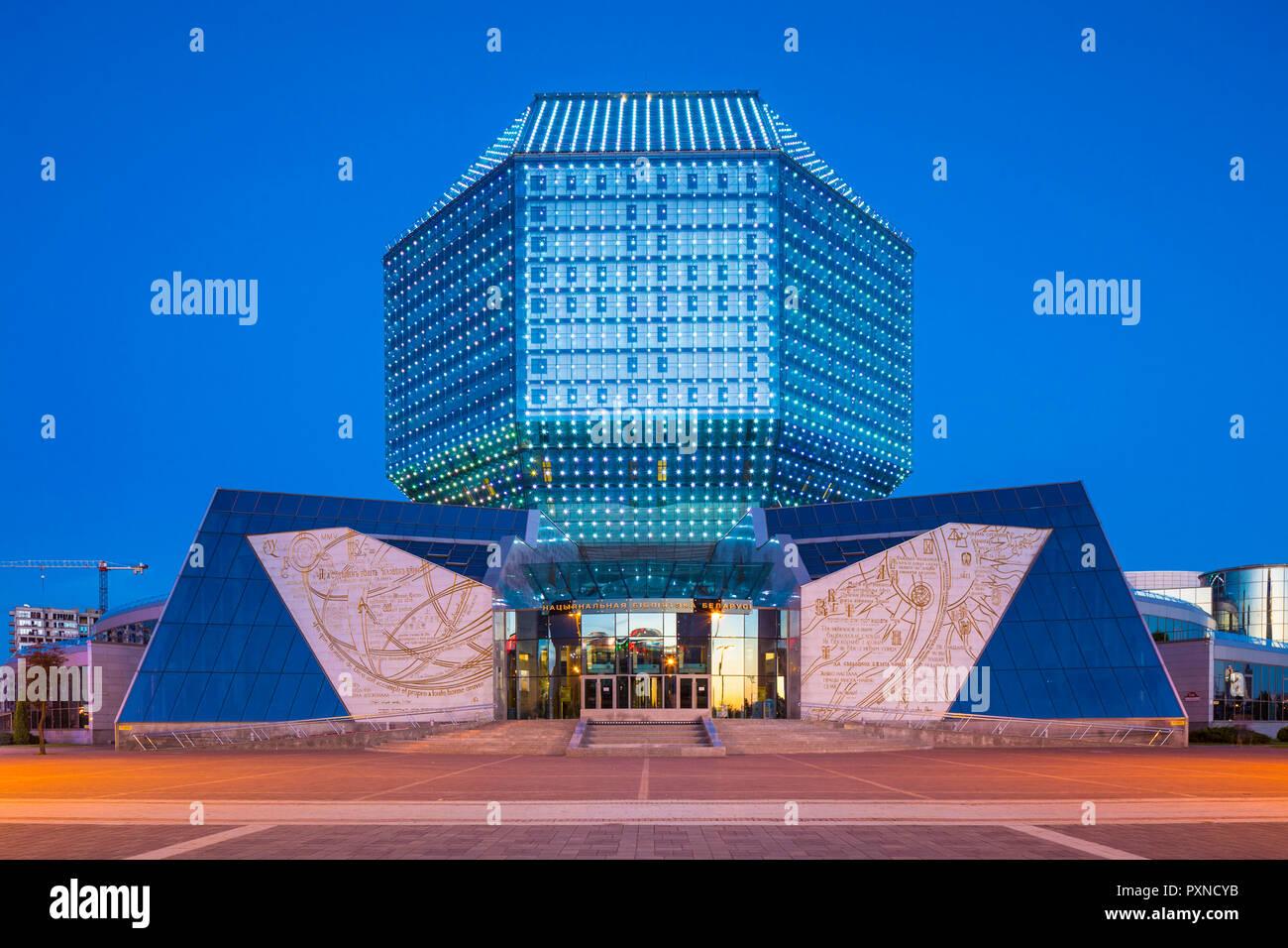 National Library of Belarus, Minsk, Belarus - Stock Image
