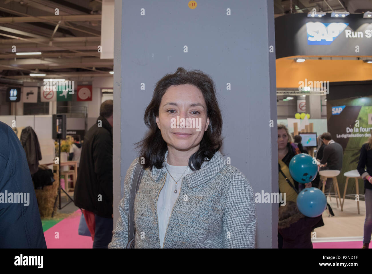 Visit of Julien Denormandie and meeting with Pierre Moscovici then with Delphine Gény-Stephann at the International Salon de Agriculture - Stock Image