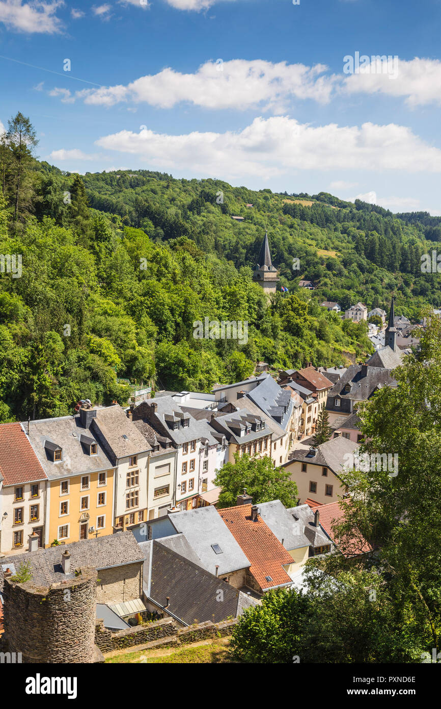 Luxembourg, View of Vianden - Stock Image