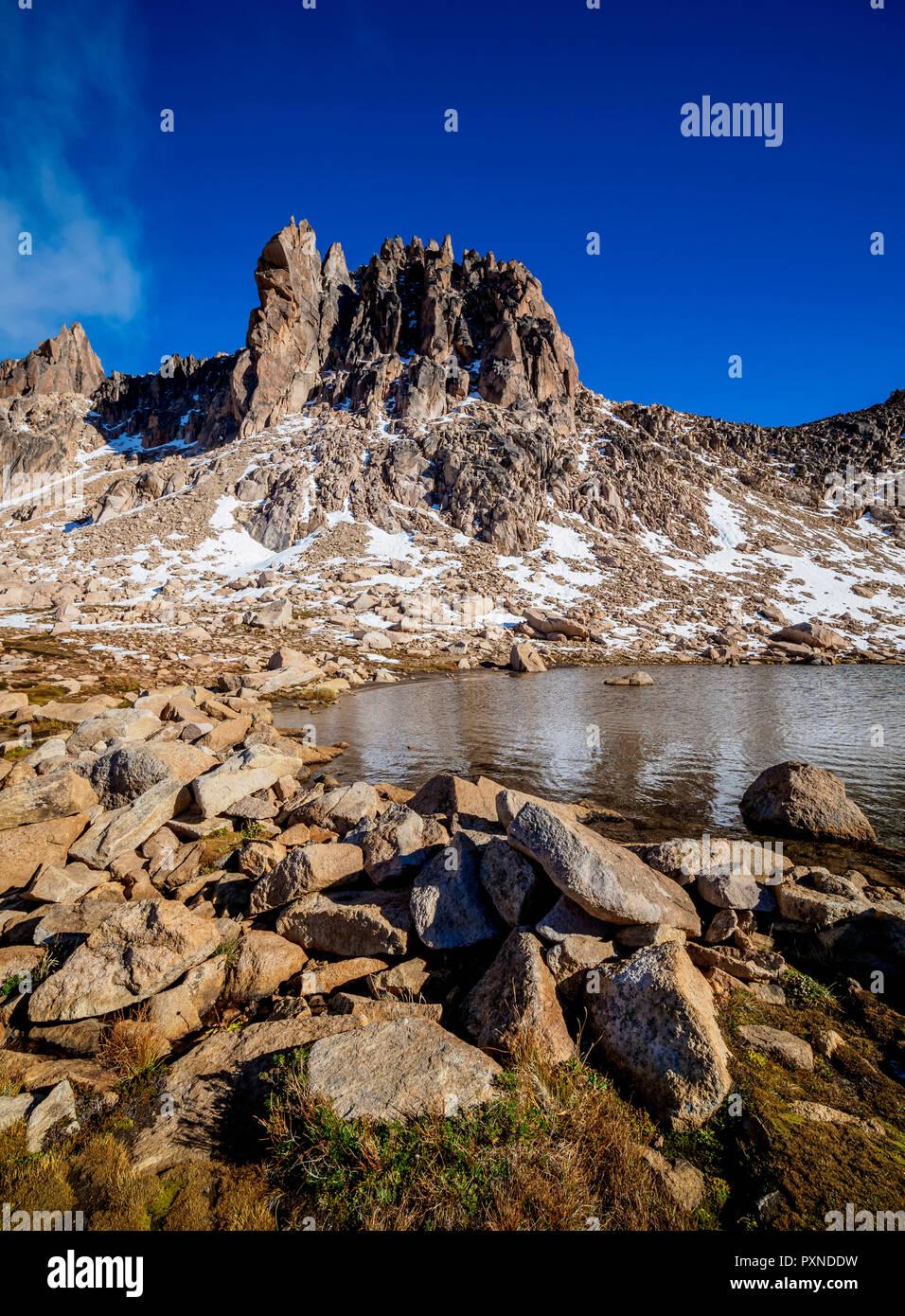 Schmoll Lagoon and Cerro Melisa, Nahuel Huapi National Park, Rio Negro Province, Argentina - Stock Image