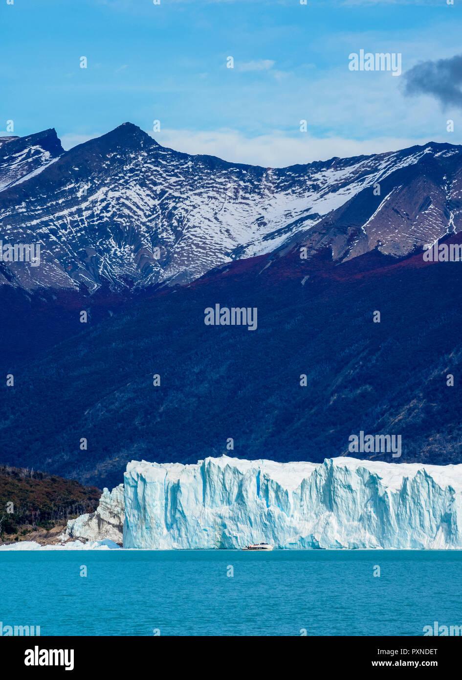 Perito Moreno Glacier, Los Glaciares National Park, Santa Cruz Province, Patagonia, Argentina - Stock Image